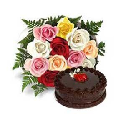 18 MIX ROSES WITH 1 KG...