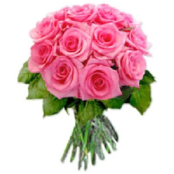 Pink Roses Bouquet 50 Flowers