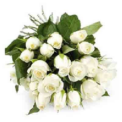 White Roses Bouquet 30 Flowers
