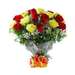 Rose Rosse E Gialle Bouquet