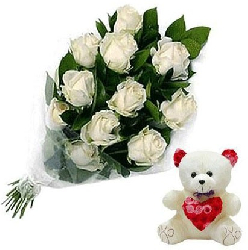 White Roses Bouquet 18...