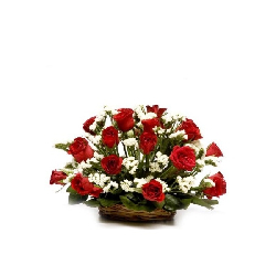 Basket of 14 roses