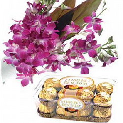 Orchids with Ferrero Rocher...