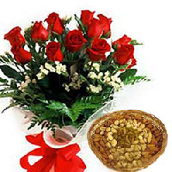 Roses with Dry fruits