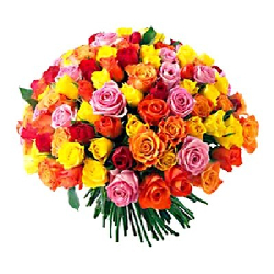 50 MIX ROSES BUNCH / Hand...